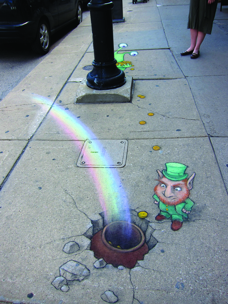 *David Zinn. Chalk art. zinnart.com