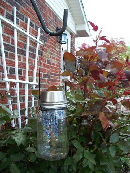Tutorial: garden fairy chandeliers #garden #lawn #yard #outdoors #diy #crafts