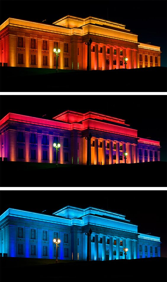 Auckland War Museum The all-new LED light design for New Zealand's Auckland Museum coincides with the commemoration of the Museum's 80th anniversary.  For this landmark heritage project, the Museum, along with its governing heritage authority, approved an all-LED environmental design that sets the historic location aglow like a jewel in the night.