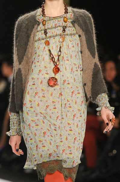 Anna Sui ... layered bohemian inspired look