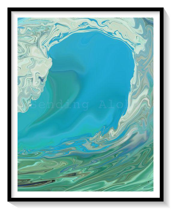 "FREE SHIPPING!   ""Big Wednesday""   8""x10"" Limited Edition Print Hawaii Art Wall Art Wall Décor Wave Surf Ocean Art"