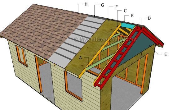 48 best images about wooden carport plans on pinterest for Free garage plans and material list