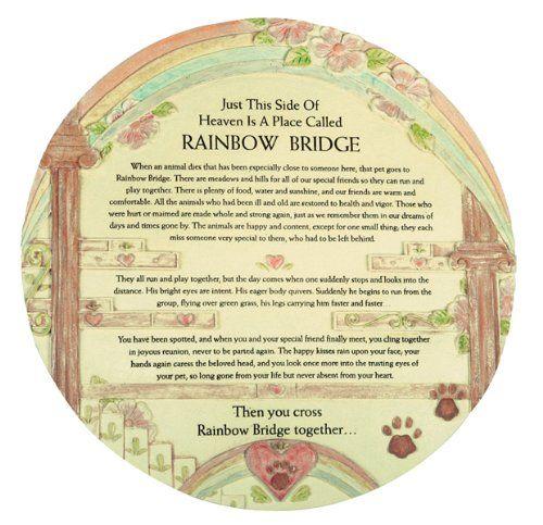 Rainbow Bridge Memorial Stone : Amazon remembrance plaque pet memorial rainbow bridge