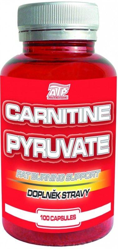 Karnitin pyruvat 100 tbl ATP Nutrition Kombinace karnitinu a pyruvátu má ohromující schopnost zlepšovat látkovou přeměnu, využití energetických rezerv v organismu a spalovat přebytečné tuky.  Nezbytným předpokladem zlepšení účinku je pohybová aktivita a vhodná strava. PYRUVAT - napomáhá při sportovním zatížení k rychlému získávání energie pro mitochondrie, zvyšuje celulární respiraci a odbourávání tuků.