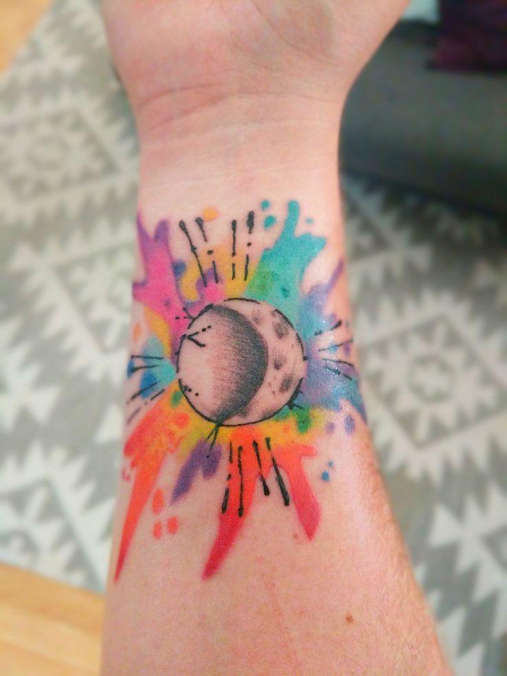 Zia Moon watercolor by Joel at Good Family Tattoo Lake Villa IL