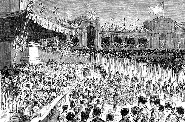 (5a) La fête patriotique du cinquantenaire de l'indépendance belge, Parc du Cinquantenaire (Bruxelles), le 16 août 1880.