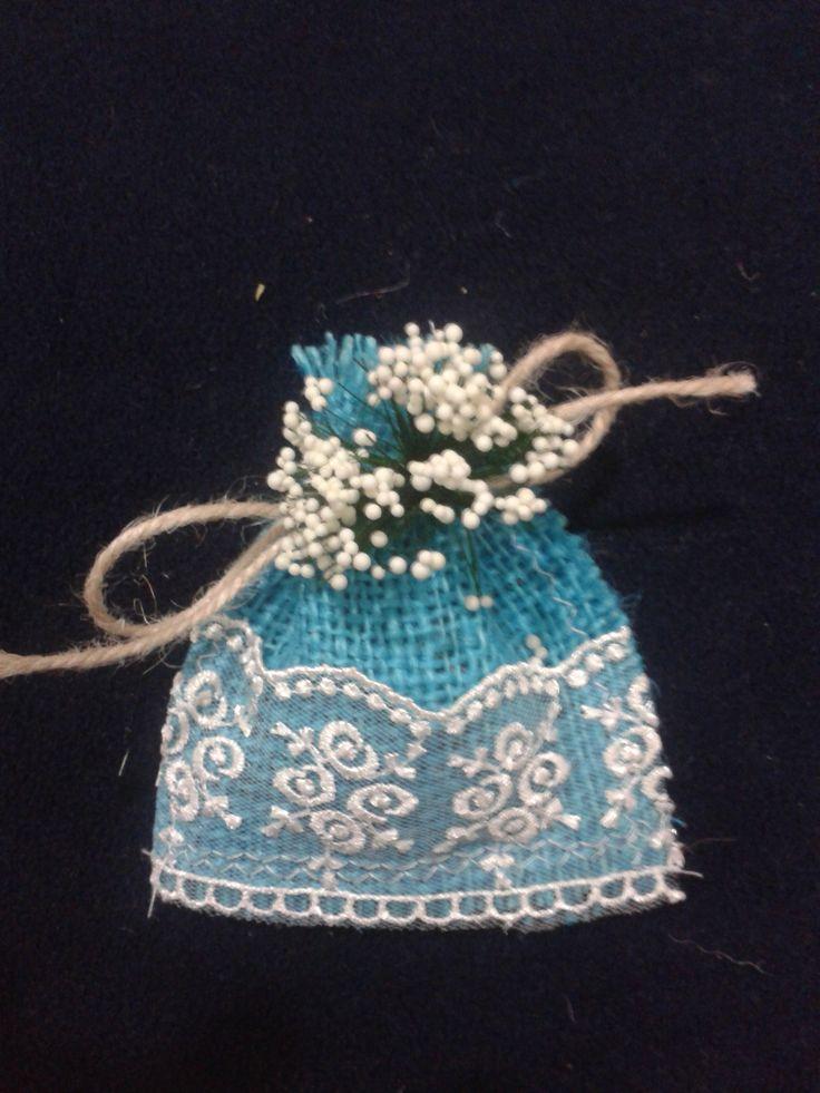 Ihlamur Tasarım | doğal malzemeden yapılmış lavanta kesesi ile nikah şekeri niyetine hediye verebilirsiniz. Lace, burlap, wedding, design, Special, natural flower, mini bags , blue