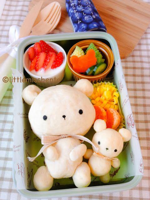 // Teddy Bear Bread Recipe and Bento //