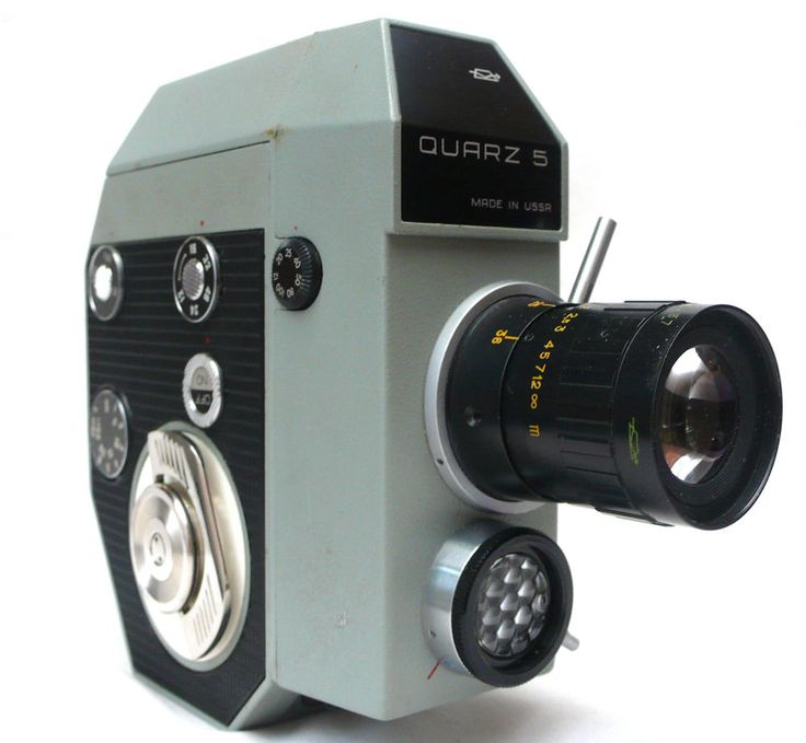 Vintage Retro USSR Russian Made Quartz 5 8mm Cine Movie Camera with Case