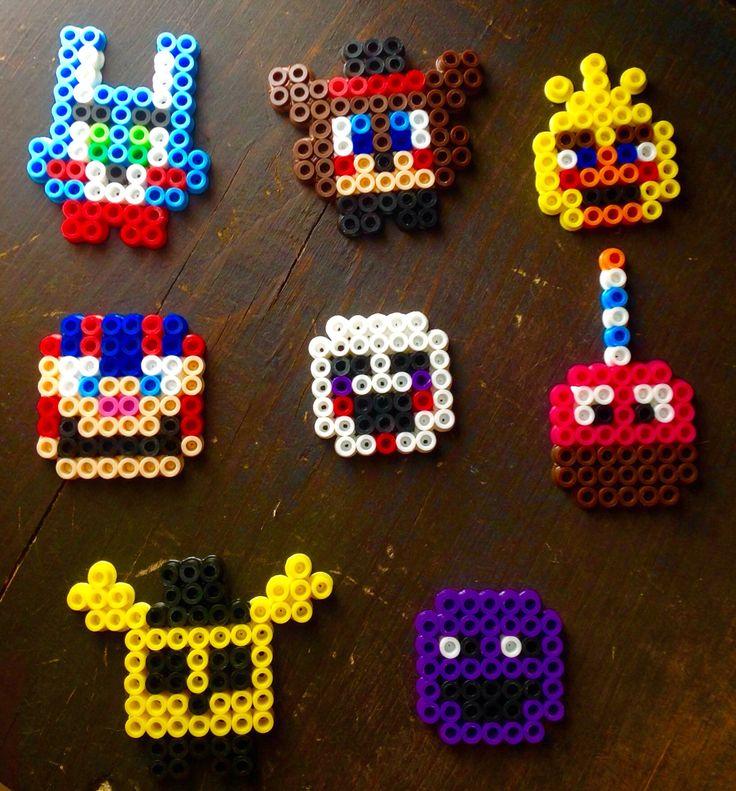 Personajes Toy de FNAF de Perler Beads DIY Perler Beads FNAF Toy characters