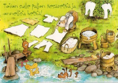 Художник-иллюстратор и писатель Mauri Kunnas (146 работ)