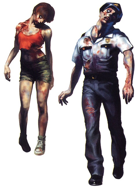 Resident Evil 2 Zombies Concept Art Is The Second Game Of Saga In