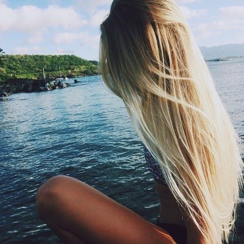 Image via We Heart It #blonde #blue #girl #hair #love #sea #summer #sun