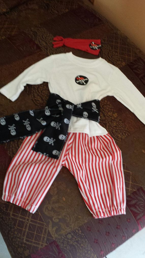 18 months . PIRATE Outfit .4 PIECES . by SOSBoutiqueandBeyond