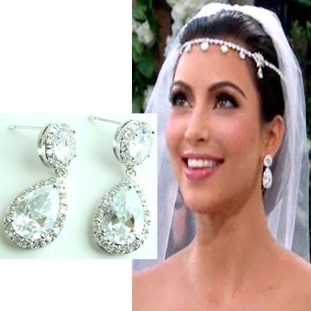 Kim Kardashian Inspired Teardrop Earrings