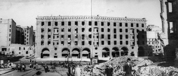 Фасад здания по адресу Крещатик, 29 (довоенная нумерация), в 1944 году. Фото: Государственный архив Киевской области