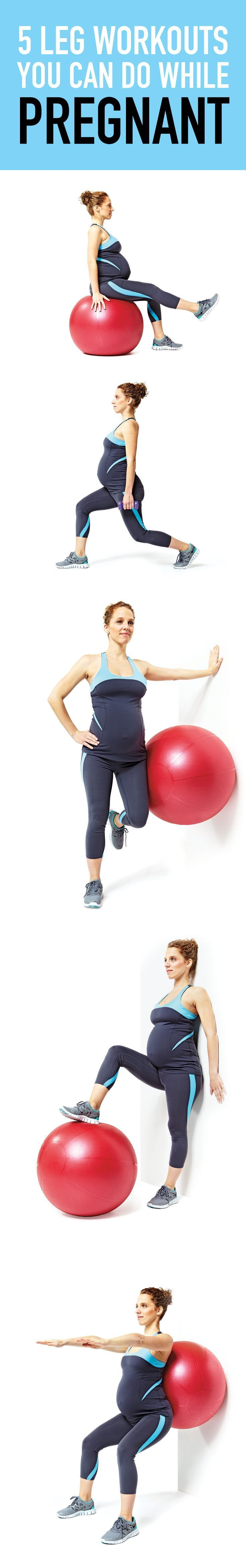 This specially designed pregnancy workout will target your legs! #pregnancy