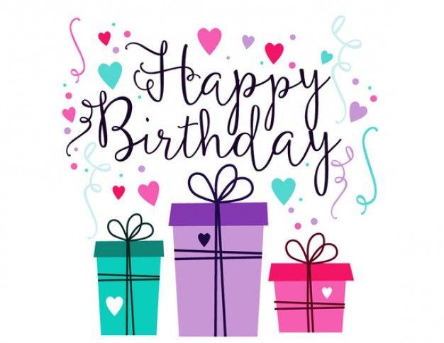 Tarjeta de felicitación del feliz cumpleaños con confeti