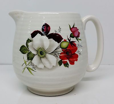Vintage Beswick Graduated Ceramic Ribbed Jug #265-1 1950's