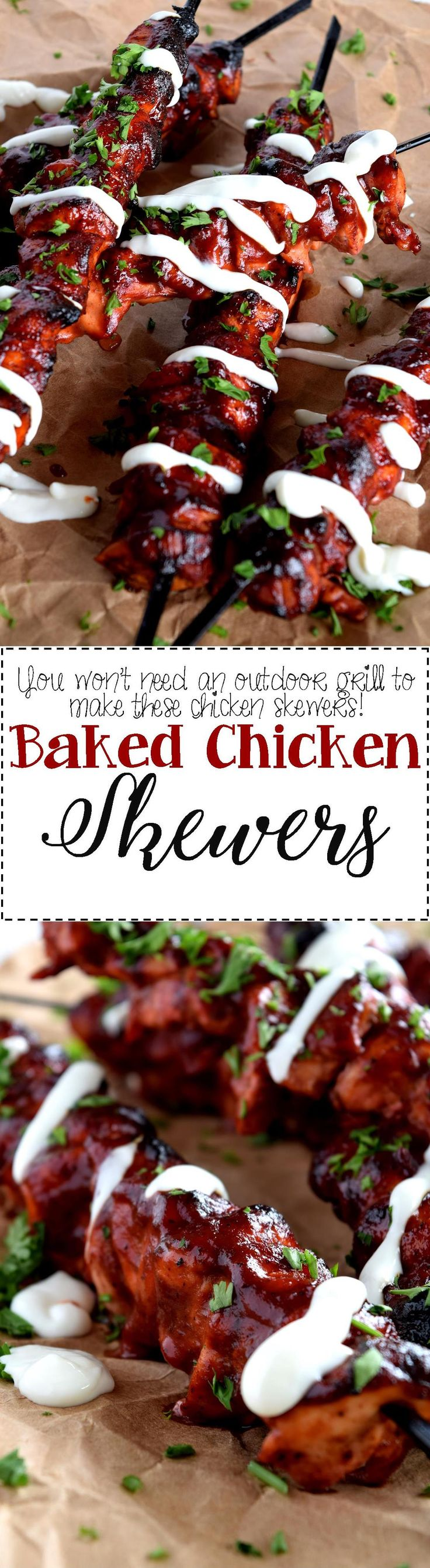 Baked Chicken Skewers are proof that an outdoor grill is not needed to achieve great charred taste. These chicken skewers are tender, moist, and flavourful; and with only four ingredients and 35 minutes, you can enjoy the taste of summer anytime!