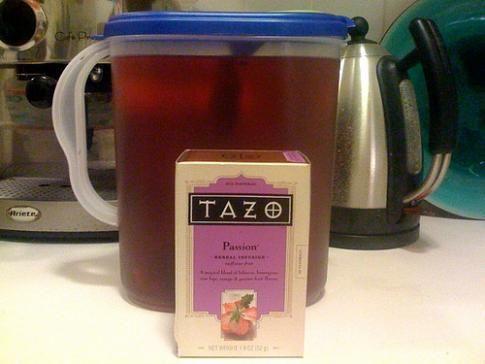 Make ur own Shaken Tazo® Iced Passion® Tea (unsweetened) from Starbucks