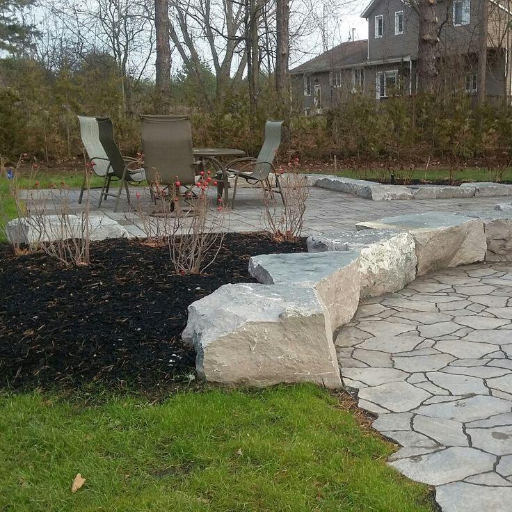 Patio,rocks,garden,flagstone random steps, precast pavers.