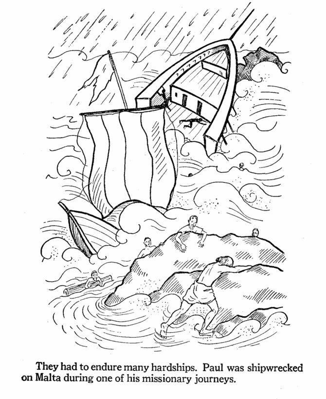 coloring pages apostle paul - photo#11