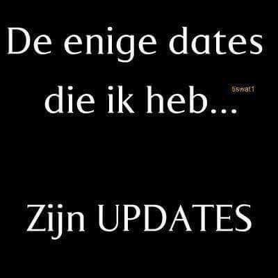 The only dates I have... are updates