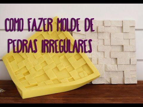 Como fazer molde de borracha flexível em formato de pedras irregulares | Tutorial | Moldflex - YouTube