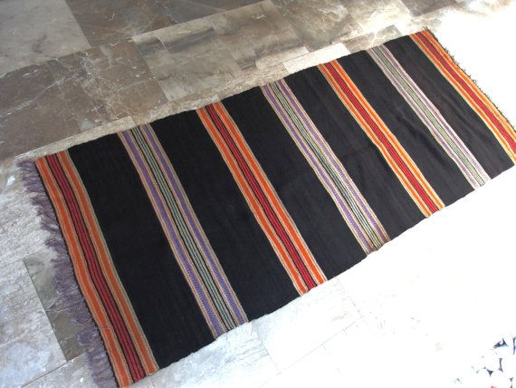 Vintage Floor decor #Kilim #Rug Runner     #Rustic #Navajo #Mexican #Mediterranean #Home #Decor Shabby #Chic #Hallway #Kitchen by #VintageHomeStories