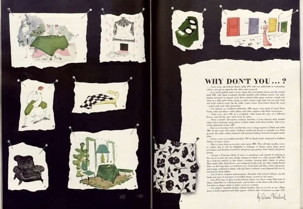 Why don't you, the double pages by Diana Vreeland, Harper's Bazaar, May 1941 issue