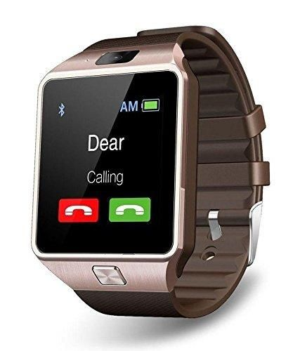 CNPGD dz01 DZ09 Smartwatch Unlocked Watch Cell Phone All-in-1 Bluetooth Watch for iPhone Android Samsung Galaxy Note Nexus HTC Sony - Brown