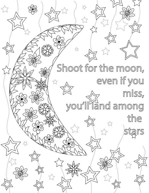 18 best Colouring Pages Quotes images on Pinterest Coloring