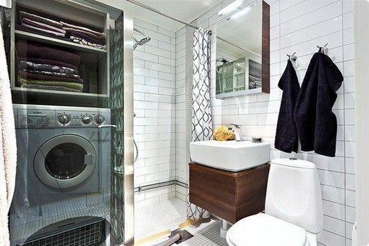 Bagno Piccolo Con Lavatrice Interno Di Casa Smepool Com