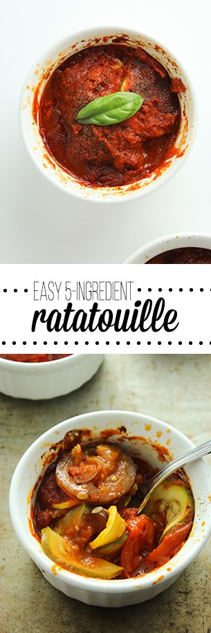 Easy, 5 Ingredient Ratatouille.......  comes together in just a few minutes and is great for saving for leftovers!