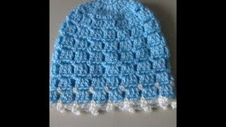Crochet Easy and unique stitch hat tutorial, via YouTube.
