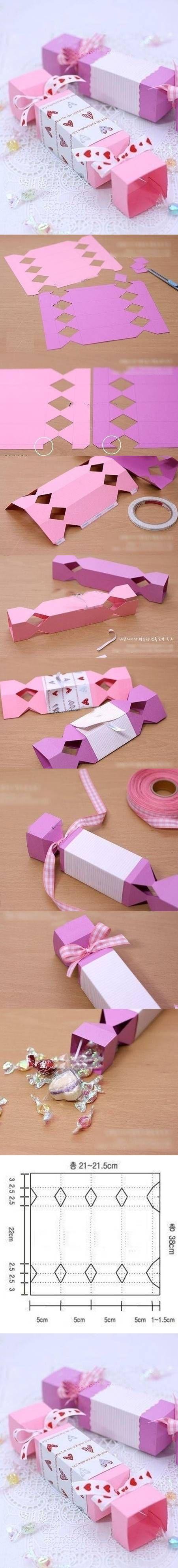 DIY Cute Candy Gift Box girly cute pink diy diy ideas diy crafts do it yourself crafty candy gift box