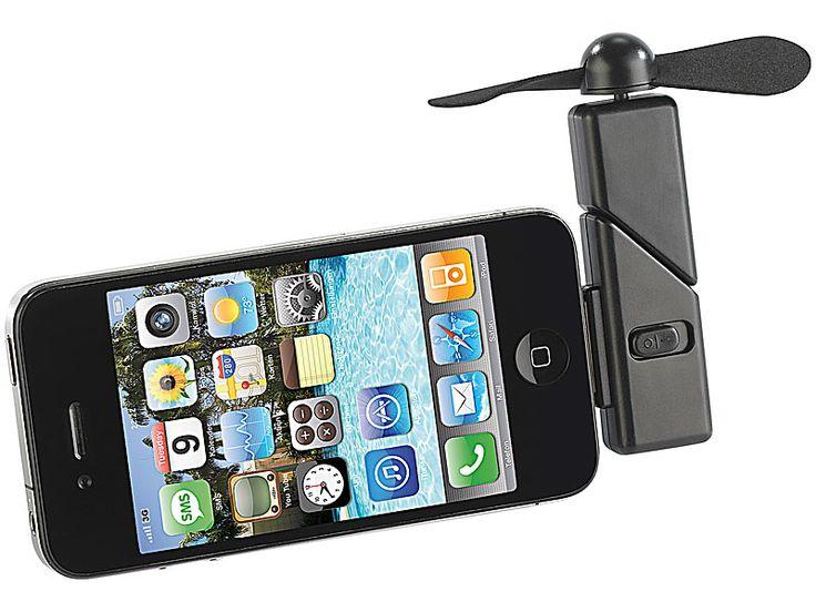 Callstel Mini Ventilator für iPhone & iPod touch mit Dock Connector