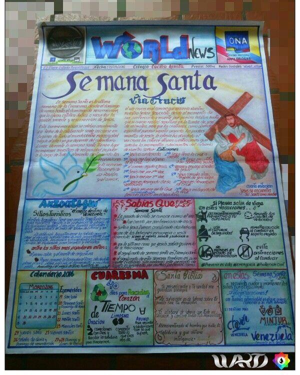 Semana santa , periodico  mural
