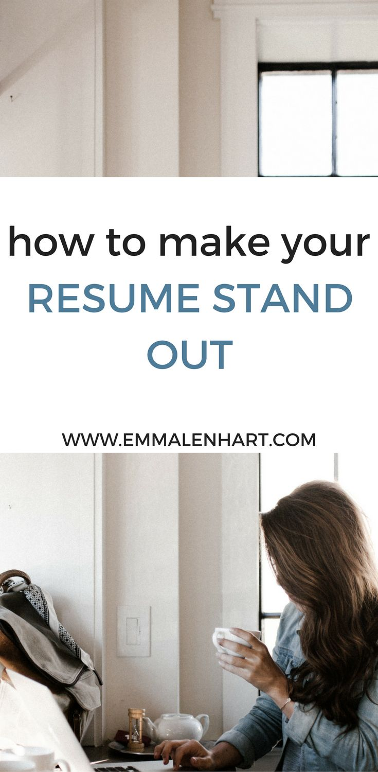Find out how to make a resume stand out from other job applicants on the Emma Lenhart blog. Land job interviews with a great resume!