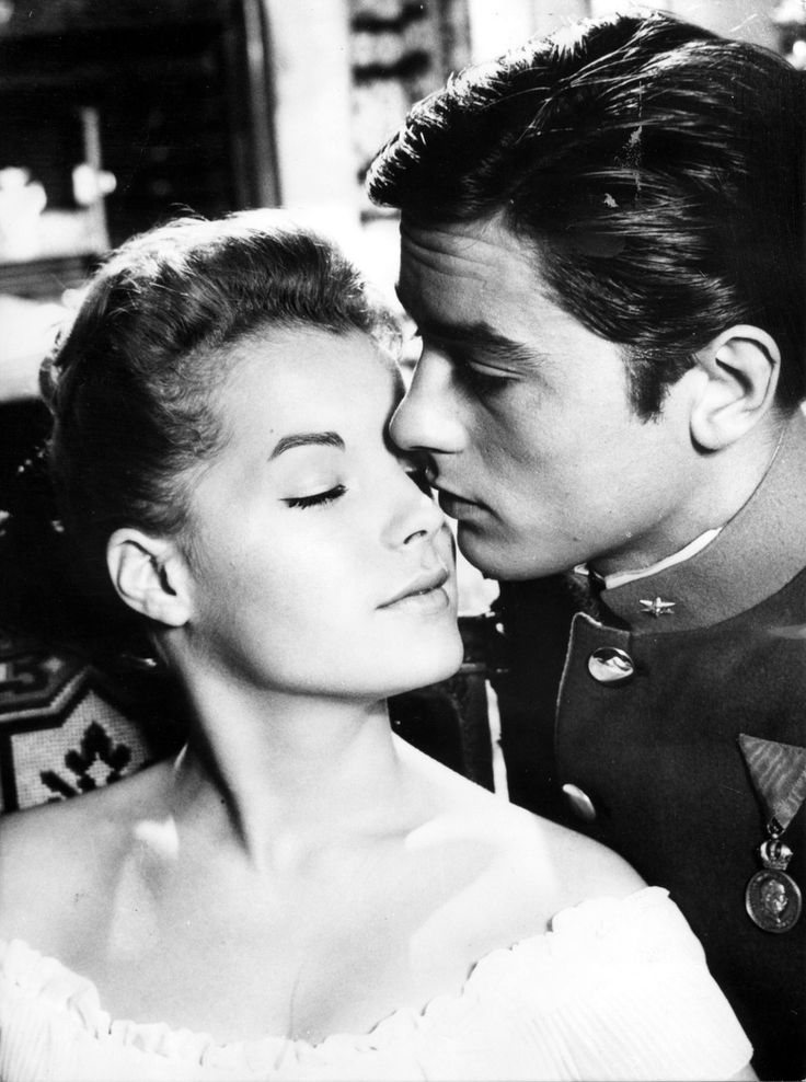 Romy Schneider and Alain Delon in Christine directed by Pierre Gaspard-Huit, 1958