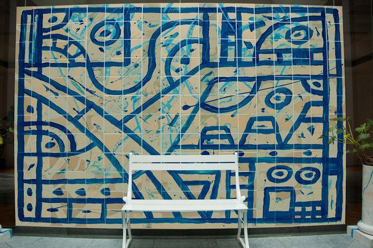 Digital/mixed media mural sample. Swedish Embassy, Tokyo, Japan