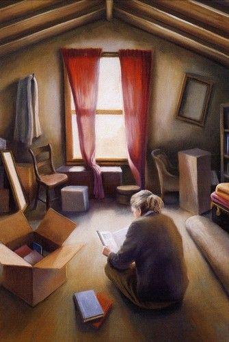 Lectura en el desván