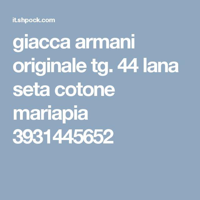 giacca armani originale tg. 44 lana seta cotone mariapia 3931445652