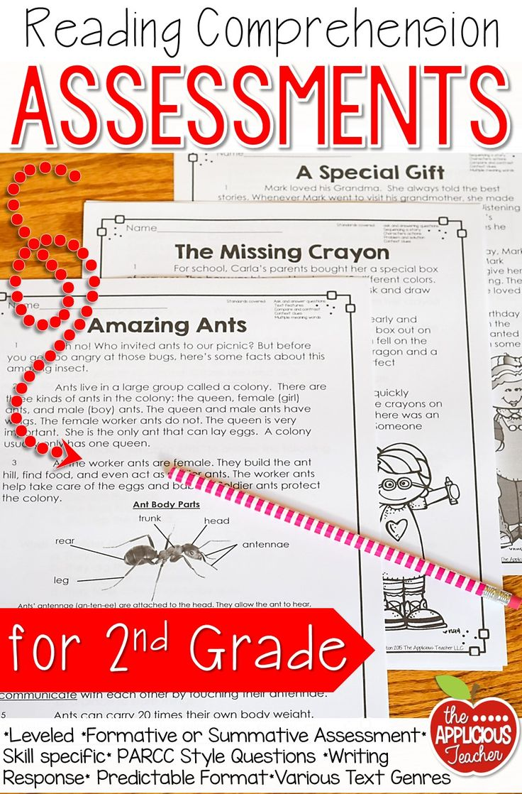 small resolution of Reading Comprehension Assessments 2nd Grade   Reading comprehension  assessments