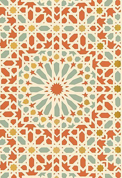 Nasrid Palace Mosaic wallcovering.