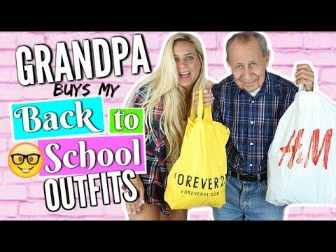 BACK TO SCHOOL CLOTHING HAUL 2017-2018!! My GRANDPA Buys My Outfits! - Back to School Outfits! - YouTube - Shannon Estelle http://youtube.cpm/shannonestelle