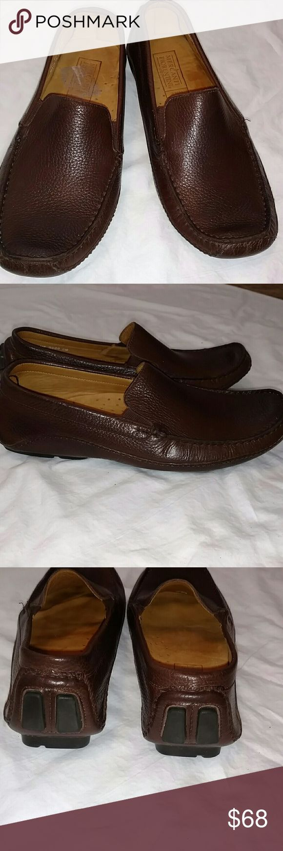 "Mercanti Fiorentini brown driving loafers These dark brown leather loafers are by Mercanti Fiorentini with a ""relax"" insole.  Excellent pre-loved condition.  Indeed, the soles look like they have never touched pavement! Shoes Loafers & Slip-Ons"