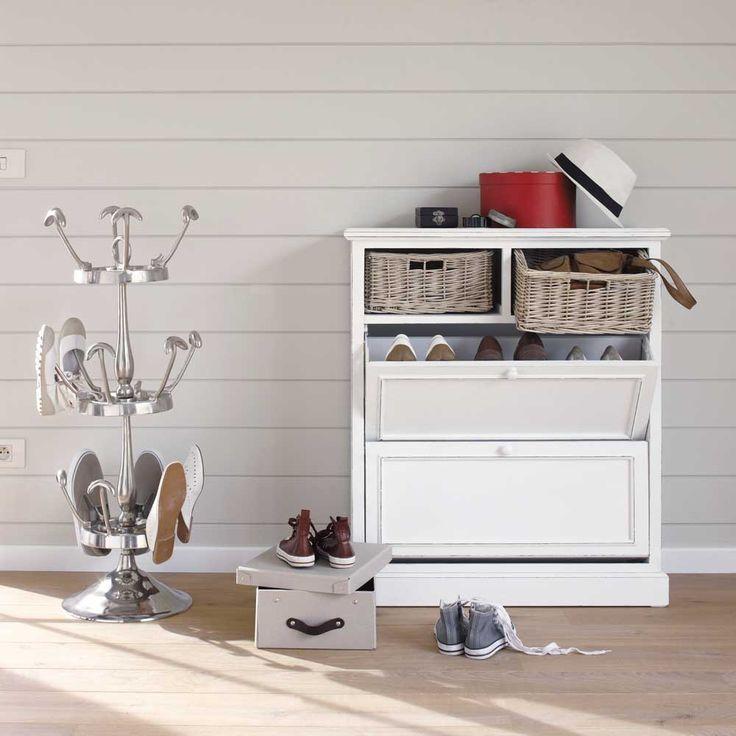 Ikea Kleiderschrank Qualität ~ Schuhschrank aus Paulownienholz, B 80 cm, weiß Cottage  Maisons du