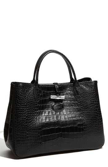 Longchamp 'Roseau' Embossed Tote available at #Nordstrom